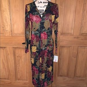 NWT M LLR Roses Floral Print Sarah Sweater Duster